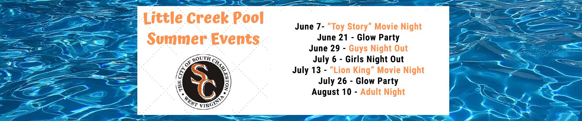 Little Creek Pool Summer Events