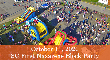 SC First Nazarene Block Party, October 11th