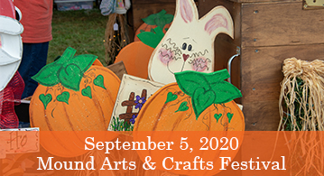 Mound Arts and Crafts Festival, September 5th